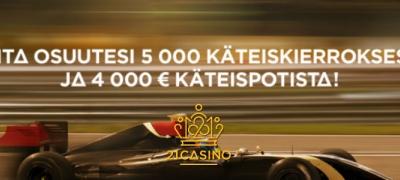 Kierrätysvapaita ilmaiskierroksia ja 4000€ käteistä jaossa 21 Casinolla!