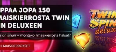 Lunasta jopa 150 ilmaiskierrosta Twin Spin Deluxeen Betsafen huipputarjouksesta!