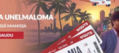 Lunasta Gutsilta päivittäisiä ilmaiskierroksia uutuuspeliin ja voit matka Miamiin!
