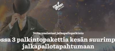 Ilmaiskierroksia ja matkapaketteja jalkapallon MM-kisoihin Mr Greeniltä!