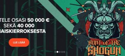 Jahtaa Shogunia, ilmaiskierroksia ja rahapalkintoja Ninja Casinolla!