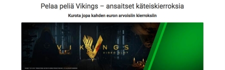 Käteis- ja superkierroksia Vikingsiin ja huikea slottiturnaus Unibetillä!