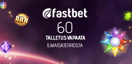 Fastbetin erikoistarjous: korotettu määrä ilmaiskierroksia!