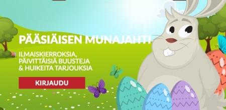 Ota osaa munajahtiin ja voita roppakaupalla spinnejä!